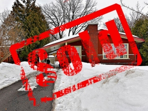 Sold Stamp over the picture of 2126 Westbourne Avenu in Glabar Park, a bungalow witha  carpot that Bill Meyer sold in March 2014