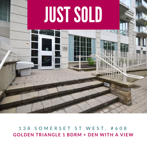 Just SOLD - 138 Somerset